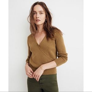 NWT Madewell Wrap-Front Pullover Sweater